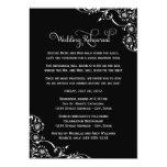 Ensayo del boda y negro de las invitaciones el | invitación 12,7 x 17,8 cm
