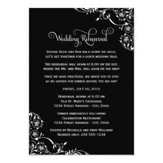 Ensayo del boda y negro de las invitaciones el | anuncio