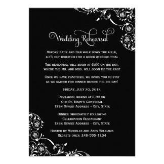 Ensayo del boda y negro de las invitaciones el d