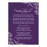 Ensayo del boda y púrpura de las invitaciones el | invitación 12,7 x 17,8 cm