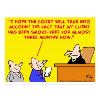 ensayo del juez que fuma postales