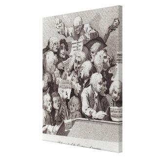 Ensayo del oratorio de Judith, 1734 Lienzo Envuelto Para Galerías
