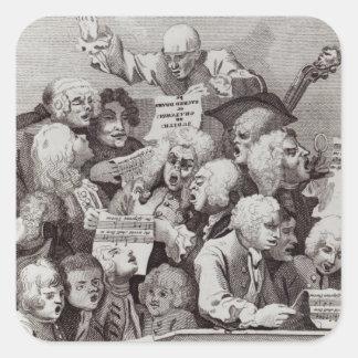 Ensayo del oratorio de Judith, 1734 Pegatinas Cuadradases