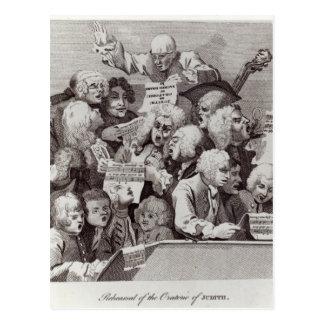 Ensayo del oratorio de Judith, 1734 Postales
