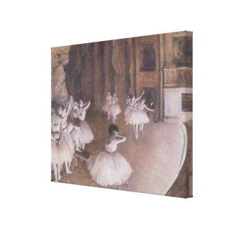 Ensayo en la etapa 1874 del ballet impresion de lienzo