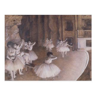 Ensayo en la etapa, 1874 del ballet postales