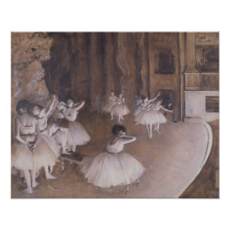 Ensayo en la etapa 1874 del ballet poster