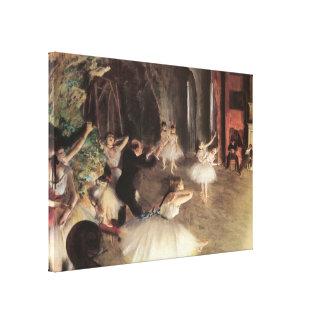 Ensayo en la etapa de Edgar Degas Lienzo Envuelto Para Galerías