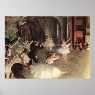 Ensayo en la etapa de Edgar Degas Póster