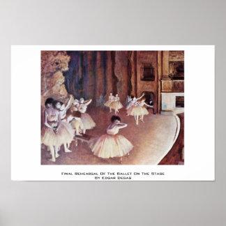 Ensayo final del ballet en la etapa posters