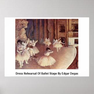 Ensayo general de la etapa del ballet de Edgar Deg Poster