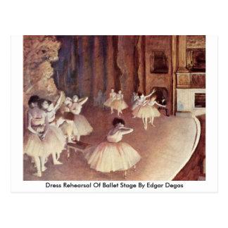 Ensayo general de la etapa del ballet de Edgar Deg Postal