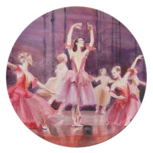 ensayo general famoso del ballet de la placa del a plato para fiesta