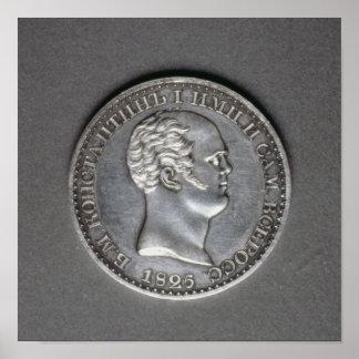 Ensayo para una rublo de Constantina Pavlovich Impresiones