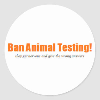 ¡Ensayos con animales de la prohibición Parodia d Pegatinas Redondas