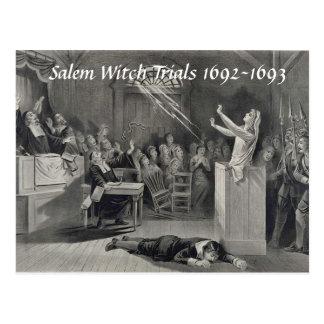 Ensayos de la bruja de Salem del vintage, postal d