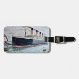 Ensayos de mar del RMS titánicos Etiqueta Para Maleta