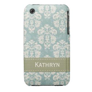 Ensenada azul y verde del compañero del caso del i iPhone 3 Case-Mate carcasas