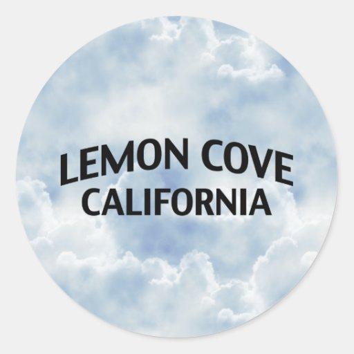 Ensenada California del limón Pegatina Redonda