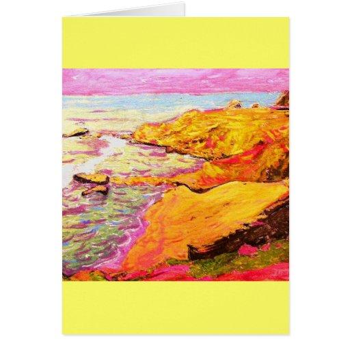 ensenada colorida de la playa de Laguna Tarjeta De Felicitación