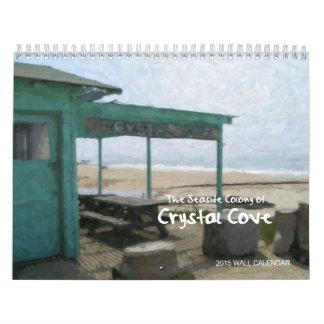 Ensenada cristalina, costa de Newport, calendario