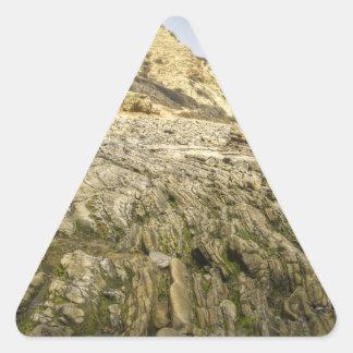 Ensenada cristalina pegatina triangular