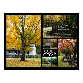 Ensenada de Cades - collage de la foto de colores Postal