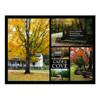 Ensenada de Cades - collage de la foto de colores  Tarjeta Postal