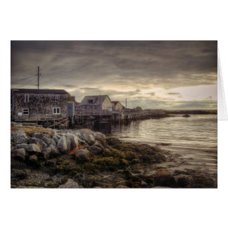 Ensenada Nueva Escocia Canadá de Peggys Tarjeta De Felicitación