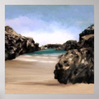 Ensenada secreta de la playa impresiones