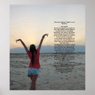 Enseñanza de Kahlil Gibran Póster