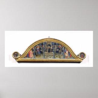 Enseñanza de St Thomas Aquinas (aceite en el panel Póster