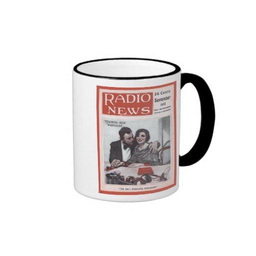 Enseñanza de su radio tazas de café