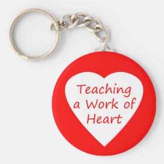 Enseñanza de un trabajo del corazón llavero