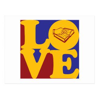 Enseñanza del amor con deficiencias visuales postales
