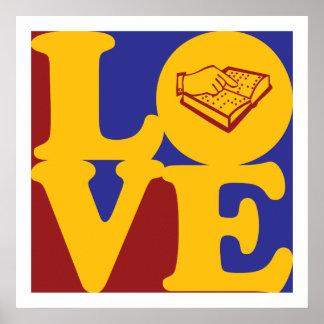 Enseñanza del amor con deficiencias visuales póster