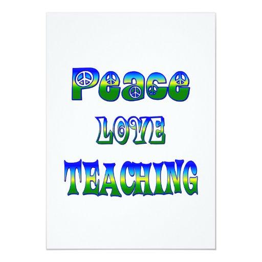 """Enseñanza del amor de la paz invitación 5"""" x 7"""""""