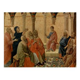 Enseñanza joven de Jesús en el templo Postal