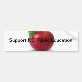 Enseñanza pública del NC de la ayuda Etiqueta De Parachoque