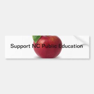 Enseñanza pública del NC de la ayuda Pegatina De Parachoque