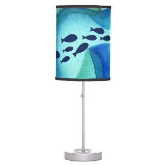 Enseñar la lámpara de la acuarela de los pescados