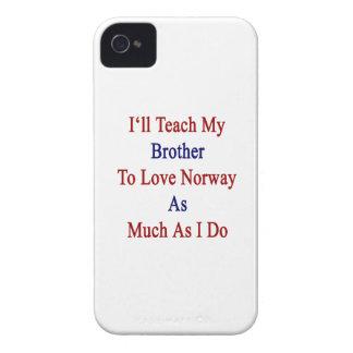 Enseñaré a mi Brother para amar Noruega tanto como Case-Mate iPhone 4 Protector