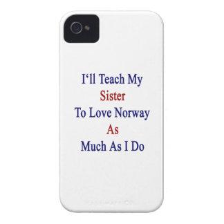 Enseñaré a mi hermana a amar Noruega tanto como I Case-Mate iPhone 4 Funda