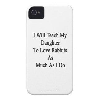 Enseñaré a mi hija a amar conejos tanta A iPhone 4 Case-Mate Funda
