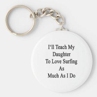 Enseñaré a mi hija a amar el practicar surf tanto llavero