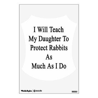 Enseñaré a mi hija a proteger conejos como Muc