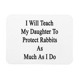 Enseñaré a mi hija a proteger conejos como Muc Imanes Rectangulares