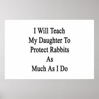 Enseñaré a mi hija a proteger conejos como Muc Posters