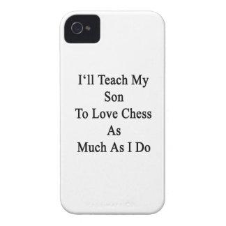 Enseñaré a mi hijo a amar ajedrez tanto como lo Case-Mate iPhone 4 coberturas