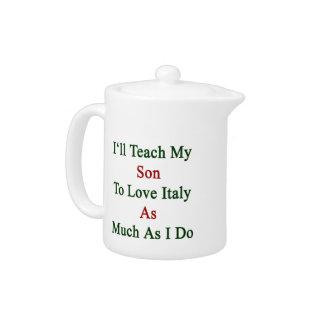 Enseñaré a mi hijo a amar Italia tanto como lo hag
